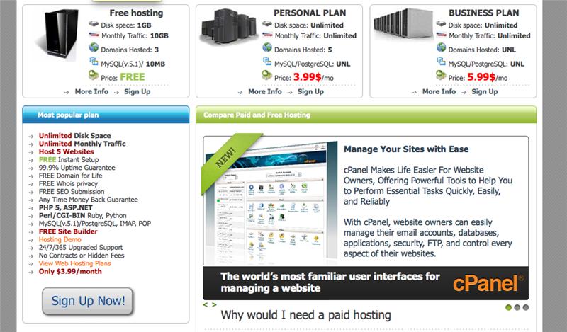 Бесплатный free хостинг с поддержкой php5 и mysql создание wap сайтов эмулятор