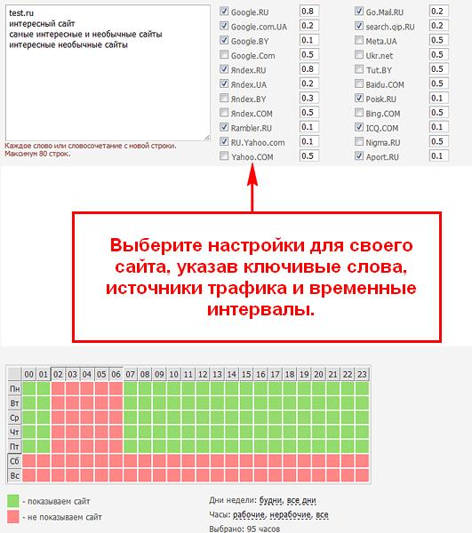 Как работает Redsurf на сайт-портале Wzarabotke.ru