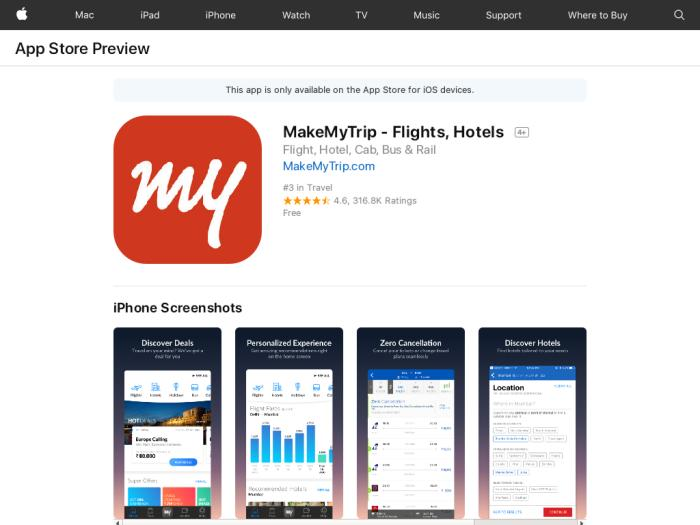 MakeMyTrip [iOS] IN