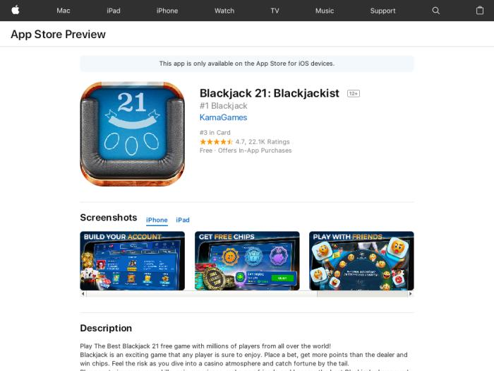 Blackjack 21 [iOS] Worldwide
