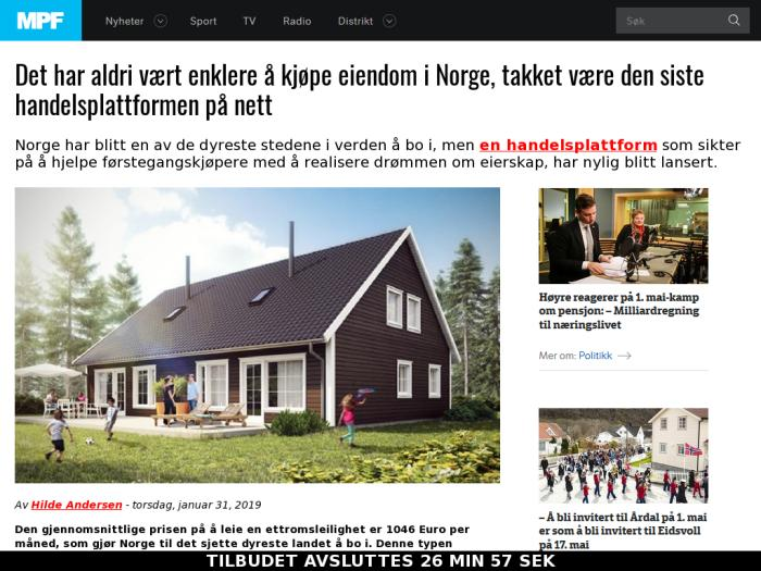 Bitcoin Revolution with funnel Buying Property in Norway