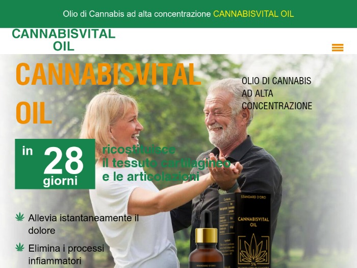 CANNABISVITAL OIL средство для суставов - IT (Италия)
