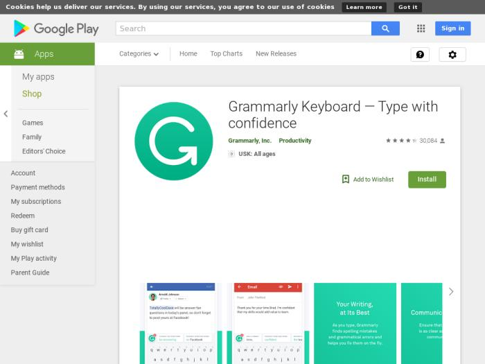 Grammarly Keyboard — Type with confidence [Android]