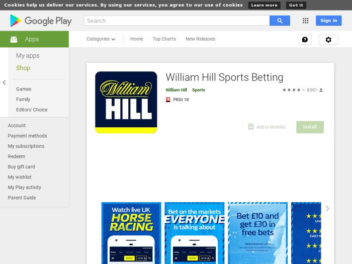 Affiliate Campaigns available with William Hill