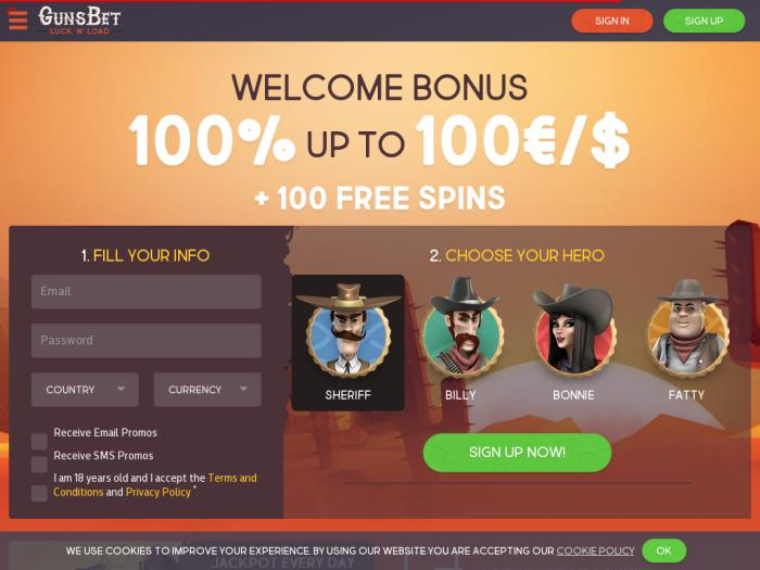 официальный сайт gunsbet casino отзывы