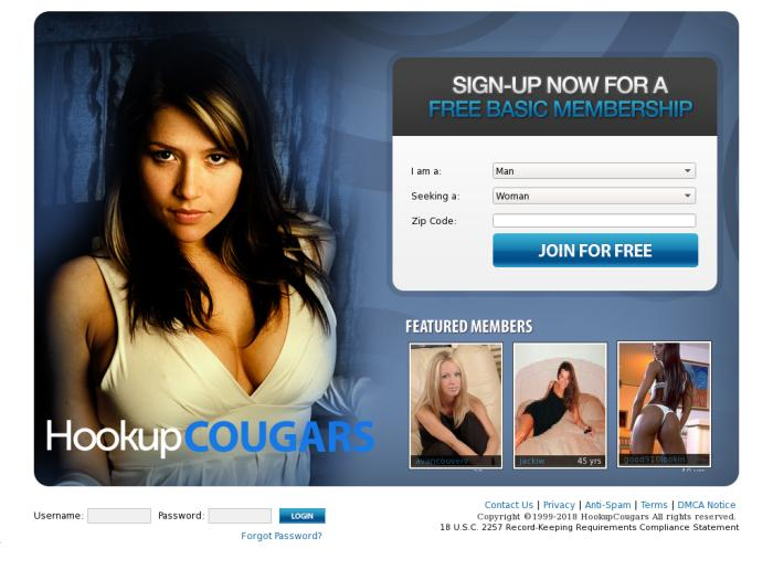 Hookupcougars login