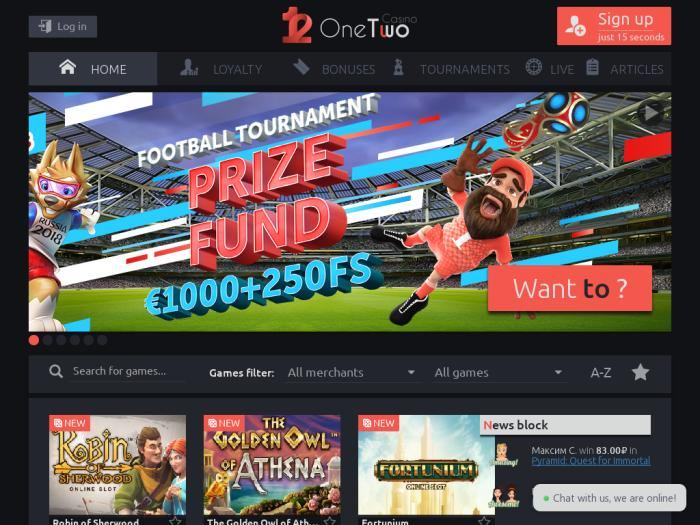 onetwo casino промокод