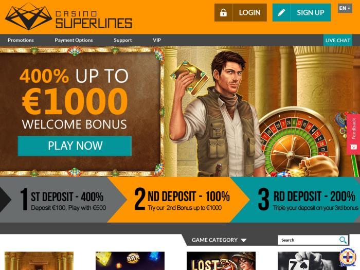 Codice bonus casino superlines