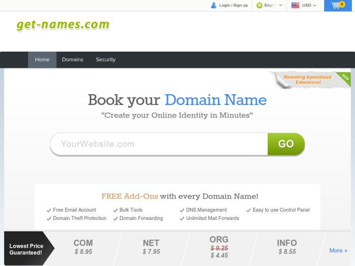 Лучший регистратор доменное имя