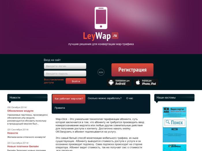 Wap Click Партнерская Программа