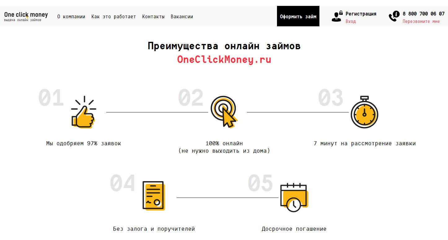 отзывы о микрозаймах https oneclickmoney ru